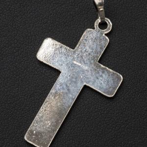 Pendant cross in 800 silver, squares s3