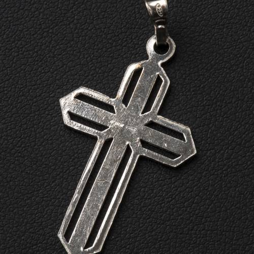 Pendant cross in 800 silver worked in the central part s3
