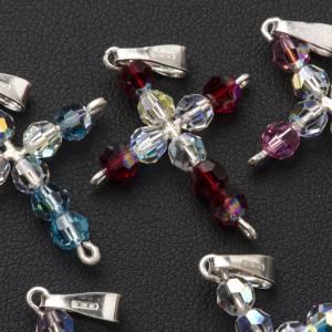 Pendant cross, round Swarovski crystal s3