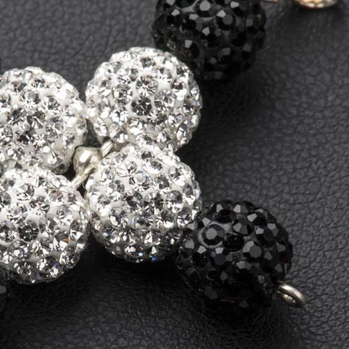 Pendant cross with Swarovski beads 5x4cm s3