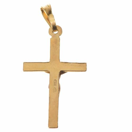 Pendant crucifix in gold-plated 800 silver 2x3 cm s2