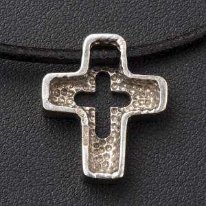 Pendant, silver cross with hole s4