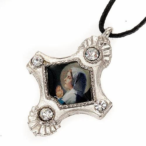 Pendant with strass cross s6
