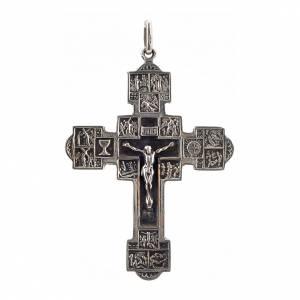 Pendente croce con Via Crucis argento 925 s1