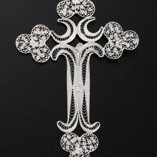 Pendente croce filigr. argento 800 - gr. 12.7 s6