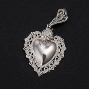 Pendentif coeur votif argent 800 s2
