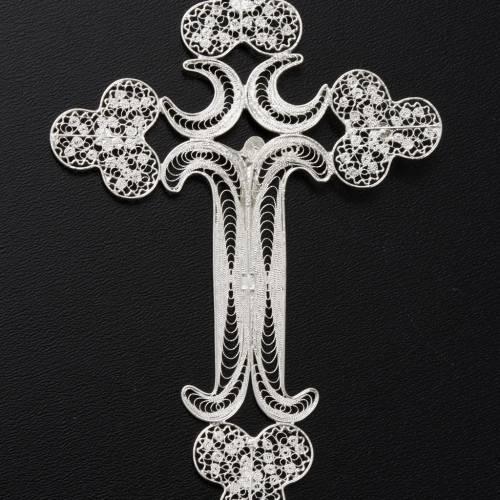 Pendentif croix filigrane argent 12,7 gr s6