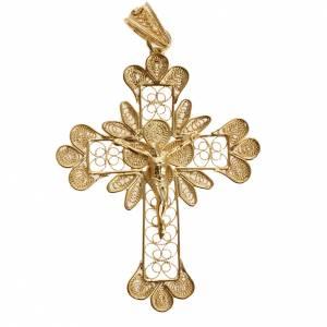 Pendentif croix trilobée filigrane argent 800 3,5 gr s1