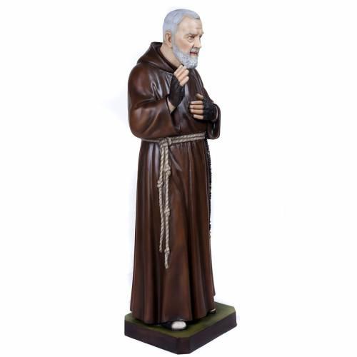 Père Pio marbre reconstitué 110cm peint s7