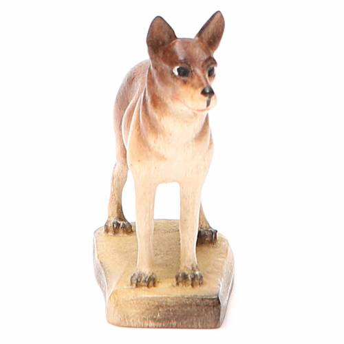 Perro 12 cm madera pesebre mod. Valgardena s4