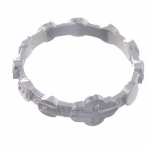 Obrączki z modlitwą: Pierścionek Medjugorje srebro 800