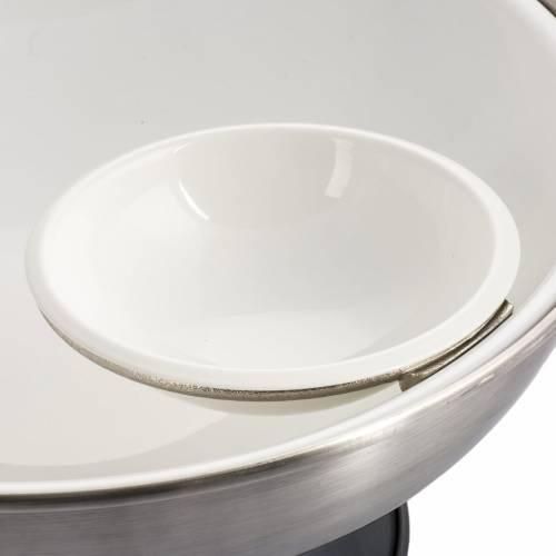 Pila Bautismal de mesa en bronce plateado s5