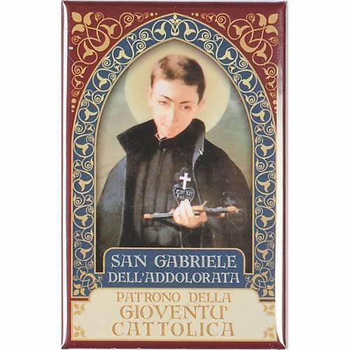 Magnete San Gabriele dell'Addolorata oro s1