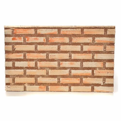 Plancha corcho efecto muro/ladrillos cm. 33x20x1 s1