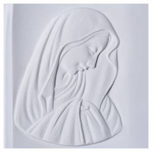 Plaque book for cemetery in reconstituted marble, Our Lady s2
