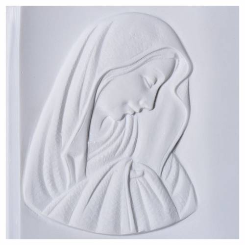 Plaque book for cemetery in reconstituted marble, Our Lady 2
