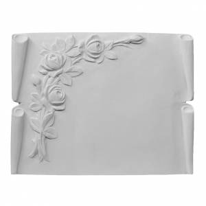 Plaque book for cemetery in reconstituted marble, roses s1