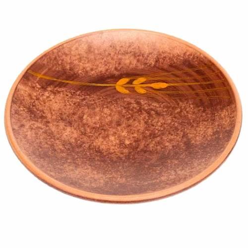 Platillo cubre cáliz cerámica marrón s1