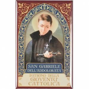 Religiöse Magnete: Platte Heilig Gabriele Gold