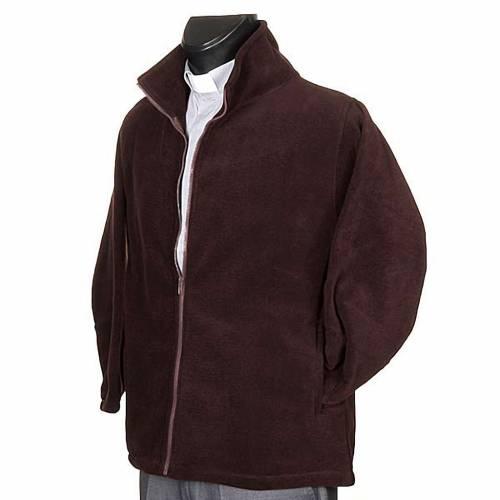 Polaire homme marron, zip et poches s2