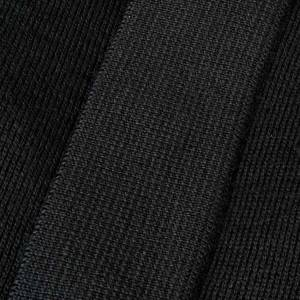 Polo clergy manches longues, noir s3