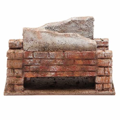 Pont crèche rustique 10x18x11 cm s1