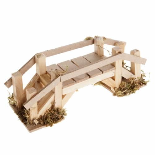 Pont en bois décor crèche s1