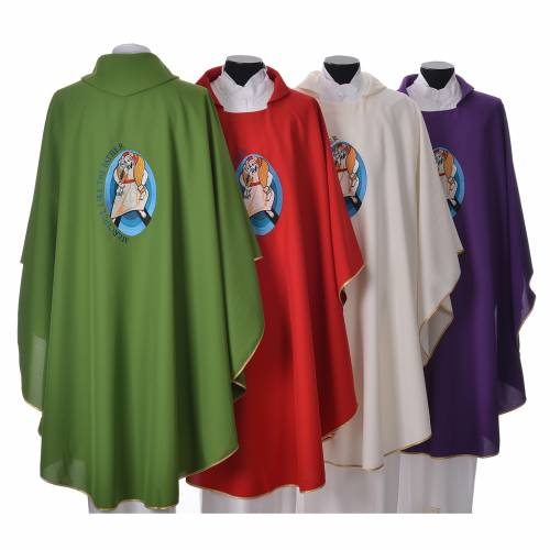 STOCK Pope Francis' Jubilee Chasuble with English writing s2