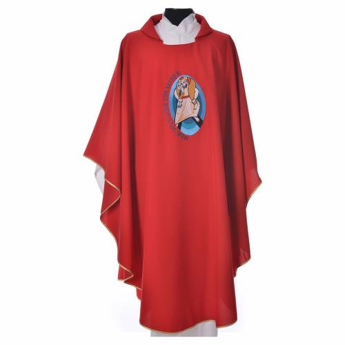 STOCK Pope Francis' Jubilee Chasuble with English writing s7