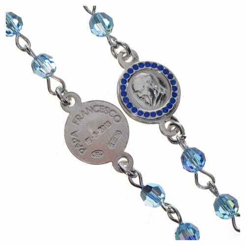 Pope Francis rosary in 800 silver and Swarovski s3