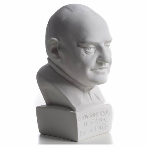 Pope John XXIII bust in reconstituted marble, 22 cm s2