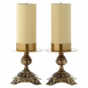 Candelieri metallo: Candelieri ottone base lavorata