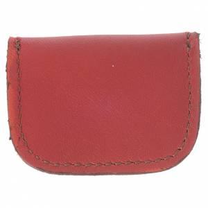 Portamedaglia pelle rossa Monaci di Bethlèem s2