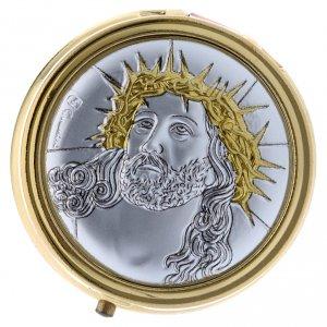Portaostia Ecce Homo metallo placca alluminio finiture oro 5 cm s1