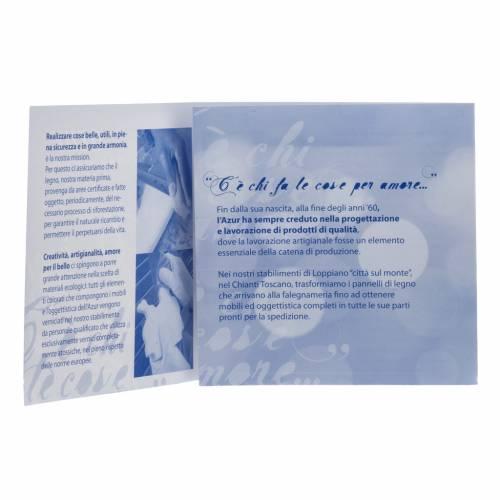 Portarretrato Azur Loppiano azul
