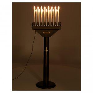 Porte-cierge électrique offrandes 15 bougies ampoules 12V boutons s3