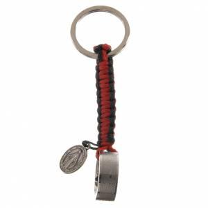 Porte-clef bague Notre Père ITA cordon rouge s1