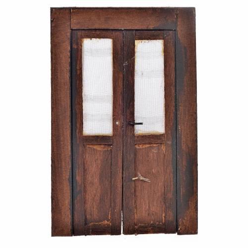 Porte en miniature crèche Napolitaine 11x7 cm s1