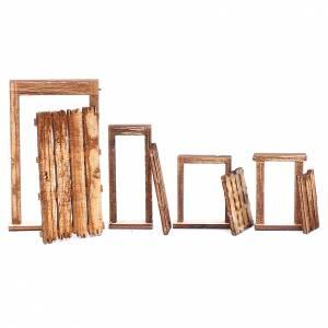 Portone rudere set 4 pz presepe napoletano fai da te legno s3