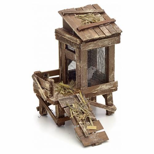 Poulailler en miniature crèche Napolitaine s1