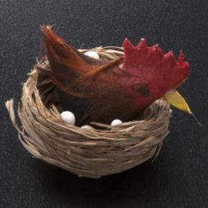 Poule qui couve décor crèche noel s2