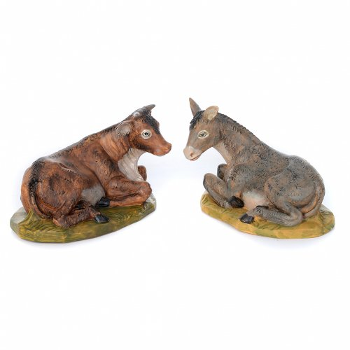 Presepe da 8 statue in materiale infrangibile 40 cm s5