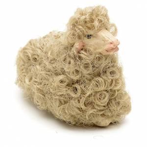 Pecorella accovacciata 12 cm colori misti s2