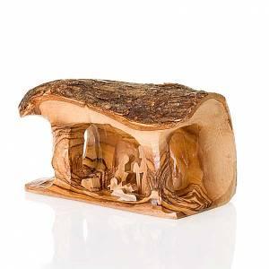 Presepe Ulivo Gerusalemme: Presepe tronchetto olivo 10 cm
