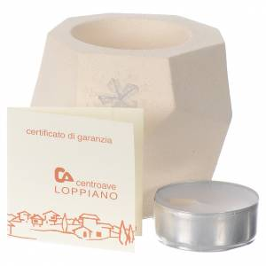 Prism shape Christmas candle in clay by Centro Ave, 6.7cm s3