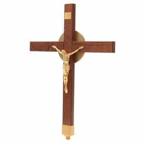 Vortragekreuze und Ständer: Prozessionskreuz Buche