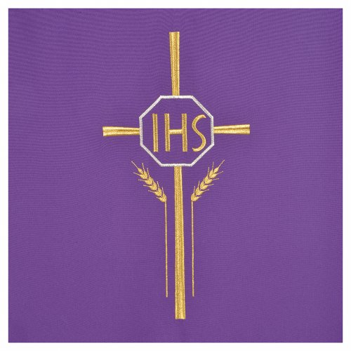 Pulpit cover with IHS cross ears of wheat, polyester s6