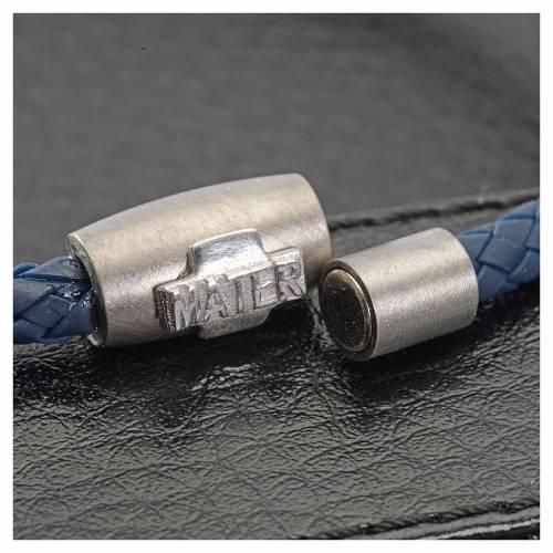 Pulsera MATER azul cruz plata 925 s3