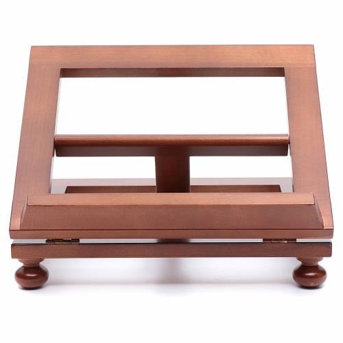 Pupitre de table bois noyer 30x24 cm s1