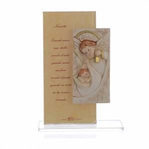 Bomboniere e ricordini: Quadretto Angelo con stampa h. 15,5 cm